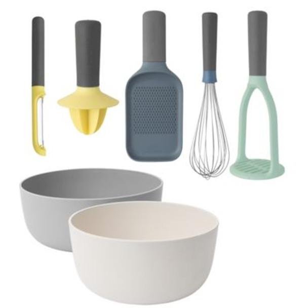 Leo 7-Piece Gadget and Serving Bowl Set-4158309