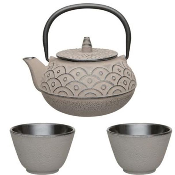Studio Cast Iron 3-Piece Tea Set-4158322
