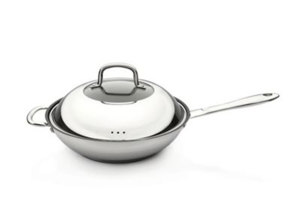 """Collect 'N Cook 11"""" Non-Stick Covered Wok-4158410"""