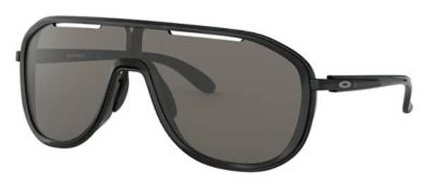Oakley Women's Outpace Sunglasses-Black Ink-Polished Black/Warm Grey-4158414