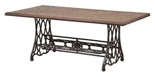 Wood and Metal Cocktail Table-4163596