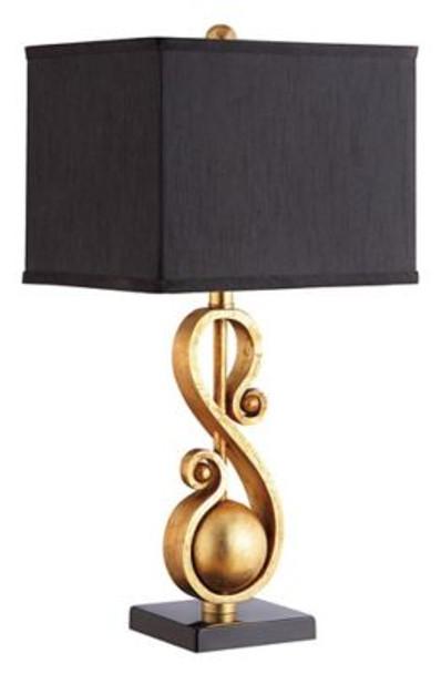 Gold Leaf Sculpture Table Lamp-4163755