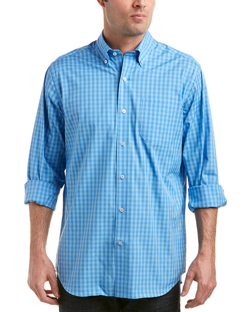 Southern Tide Getaway Gingham Classic Fit Sportshirt~1010660759