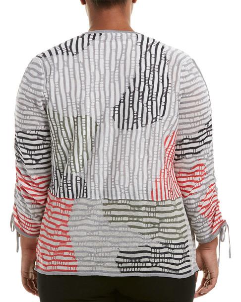 NIC+ZOE Plus Linen-Blend Cardigan~1411711724