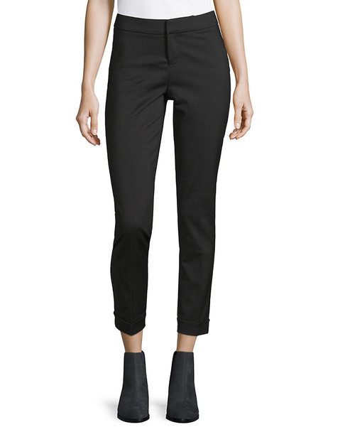Saks Fifth Avenue BLACK Cuffed Trouser~1411775435