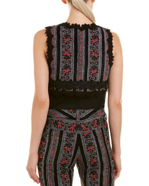 Anna Sui Chenille Floral Jacquard Jacket~1411820387
