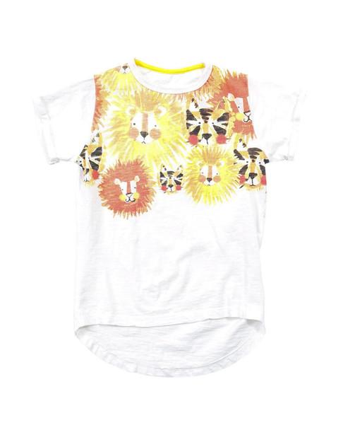 RB Ryan Lion & Tiger Print T-Shirt~1511776055