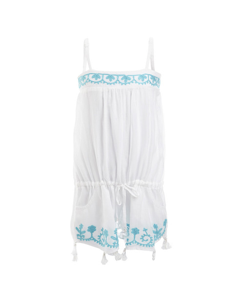Melissa Odabash Embroidered Trim Romper~1511873982