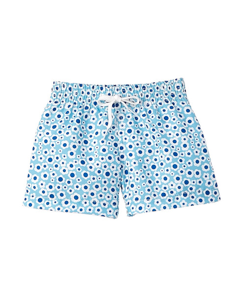 Azul Girls' Dreamy Daisies Blue Swim Short~1545275254
