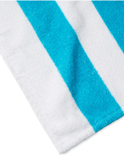 Dohler Cabana Cotton Terry Velour Beach Towels~3030873741