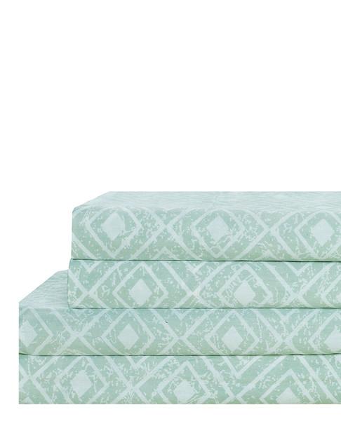 NMK Solitaire Sage 100% Cotton Sheet Set~3033323197