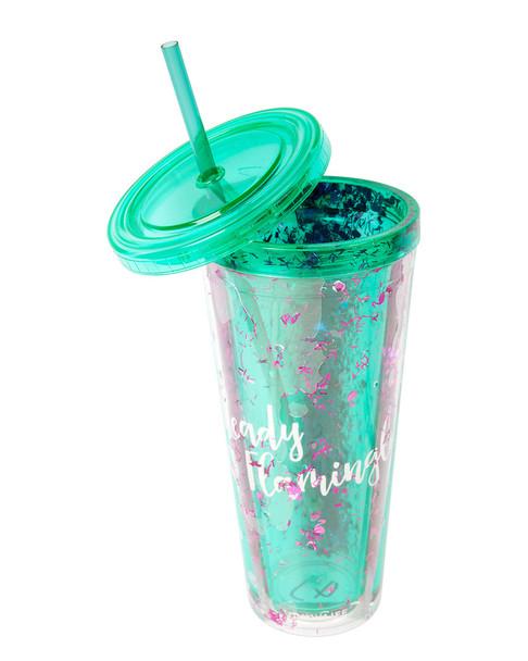 Sunnylife Flamingo Glitter Tumbler~3010776122