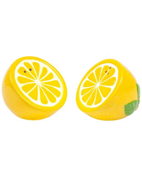Sunnylife Set of 2 Lemon Ceramic Salt & Pepper Shakers~3010822446