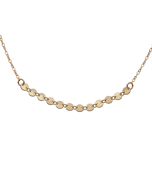 Dogeared Top Layer 14K Over Silver Choker Necklace~6030870531