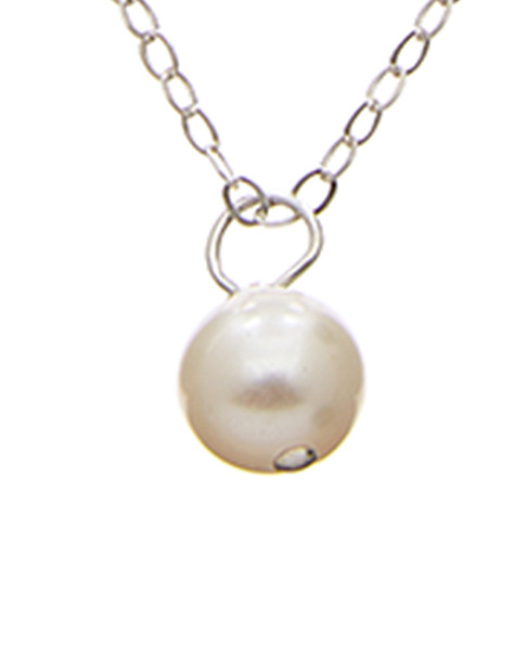 Dogeared Silver 5mm Pearl Necklace~6030870548