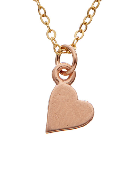 Dogeared 14K Over Silver Sideways Heart Necklace~6030870560