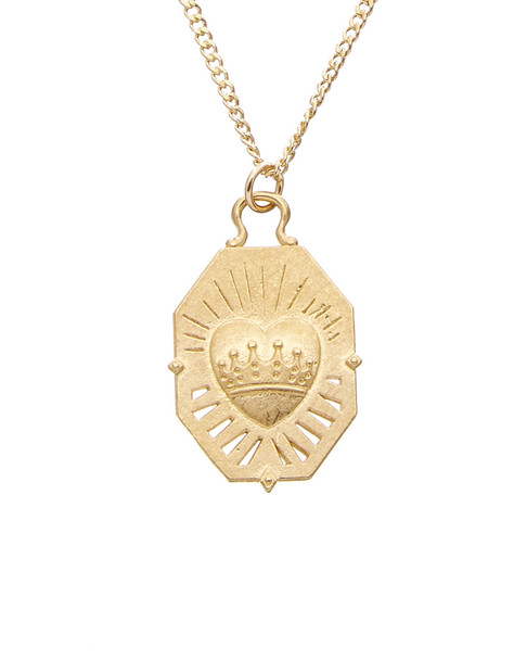Dogeared 14K Over Silver Heart of Gold Necklace~6030870588