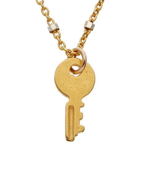 Dogeared 14K Over Silver Key Charm Necklace~6030870616