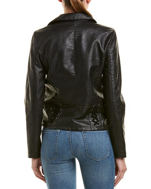 Design History Moto Velvet Laced Jacket~1411842716