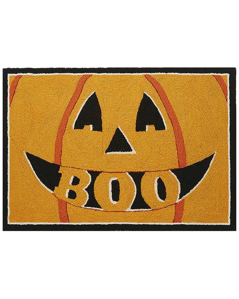 Peking Handicraft Pumpkin Boo Hook Rug~3041376922
