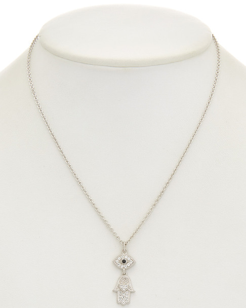 Judith Ripka Silver 0.35 ct. tw. Gemstone Necklace~6030548170