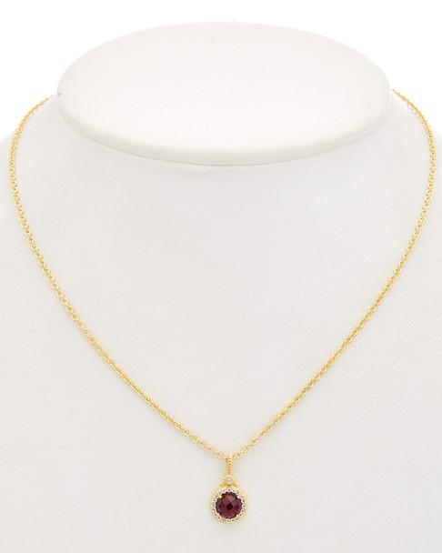 Judith Ripka La Petite 14K Over Silver 1.97 ct. tw. Gemstone Necklace~6030675484