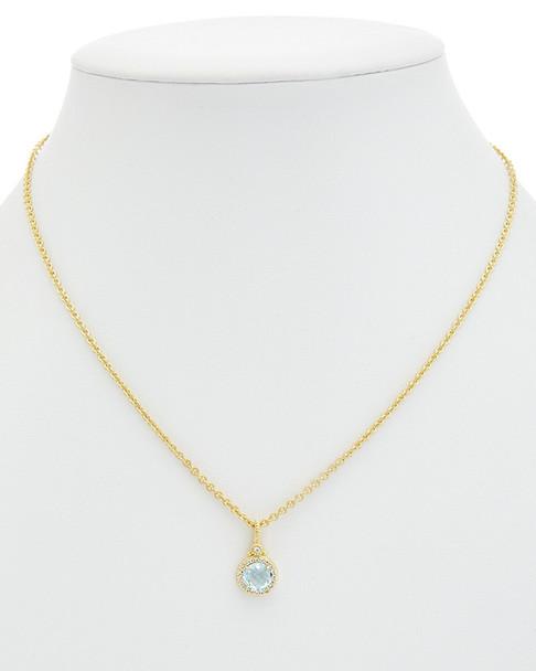 Judith Ripka La Petite 14K Over Silver 1.97 ct. tw. Gemstone Necklace~6030755989