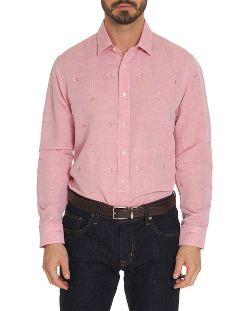 Robert Graham Roland Linen-Blend Classic Fit Woven Shirt~1010951506