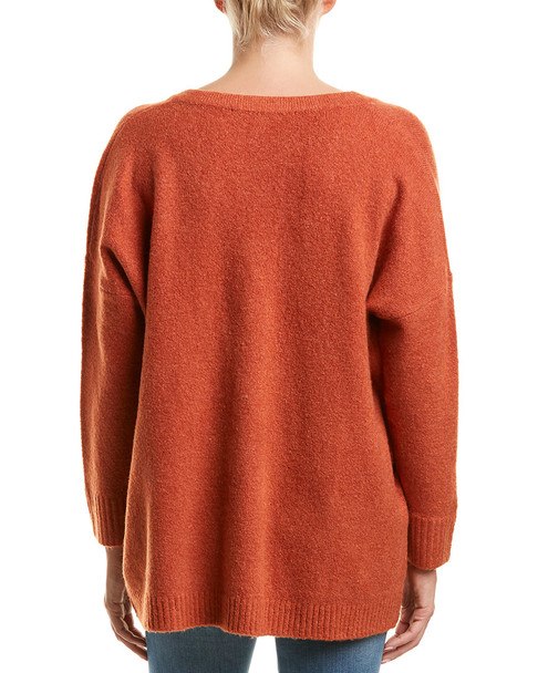 French Connection V-Neck Wool-Blend Sweater~1411222521