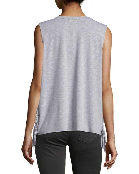 Lea & Viola Side Fringe T-Shirt~1411300155