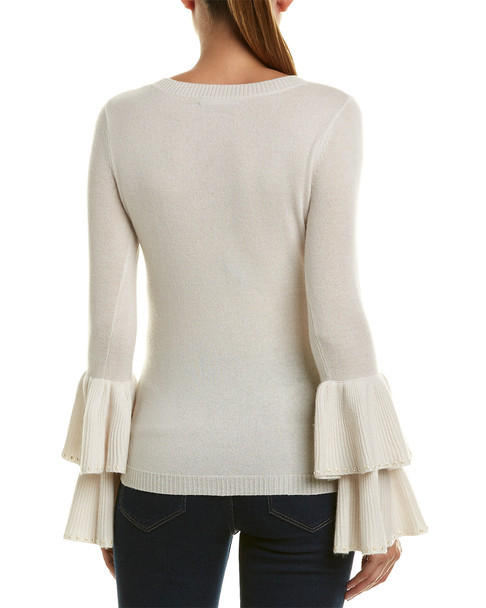 InCashmere Bell-Sleeve Cashmere Sweater~1411661806