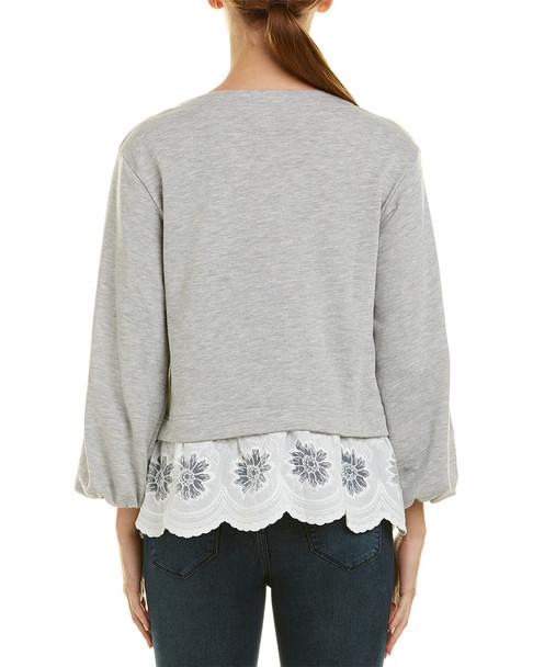 Stellah Eyelet Trimmed Sweatshirt~1411711457