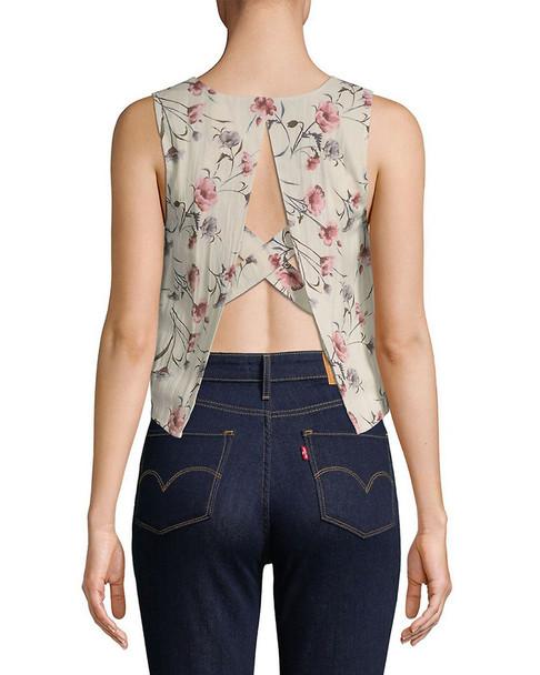 J.O.A. Floral-Print Woven Top~1411786942