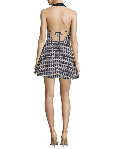 J.O.A. Halter Printed A-Line Dress~1411789015