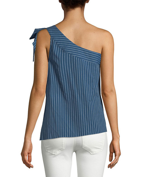 Parker Striped One-Shoulder Top~1411795037