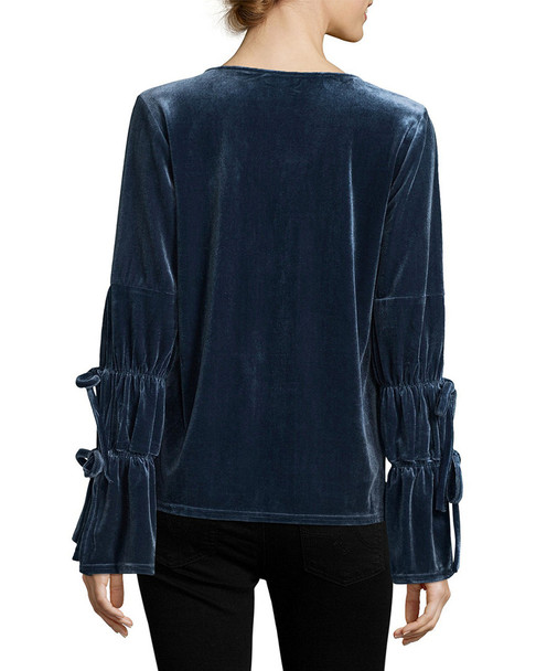 Lucca Couture Elizabeth Drawstring Sleeves Top~1411809051