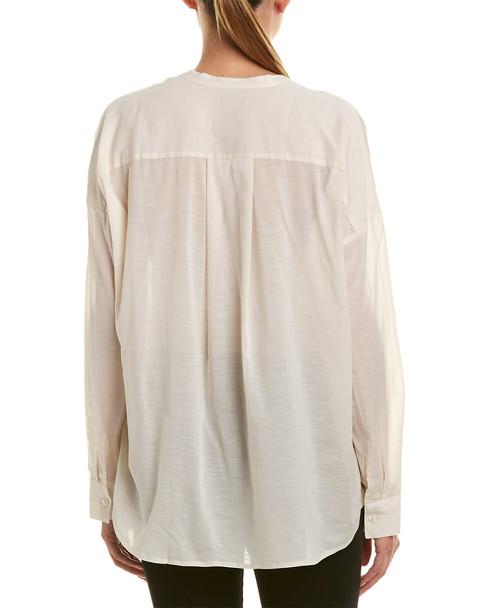James Perse Chiffon Silk-Blend Pullover Tunic~1411923806