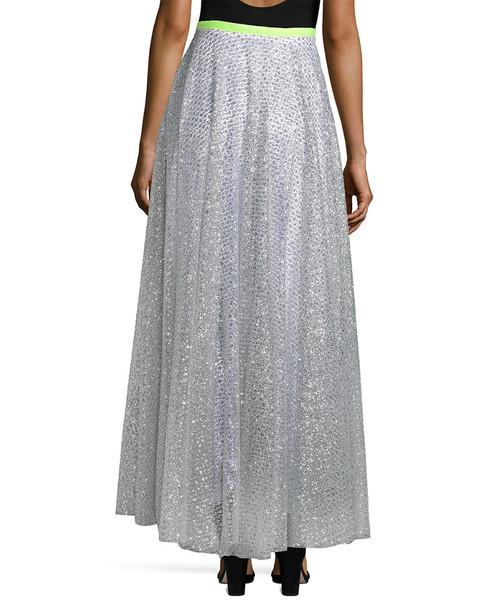 Manoush Jupe Glitter Lace Skirt~1411966191