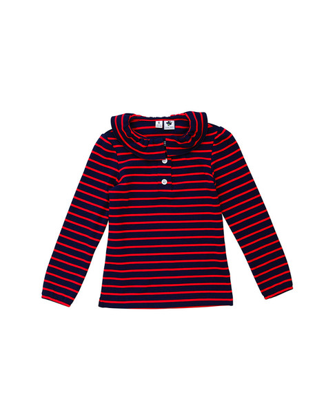 Busy Bees Navy & Red Turtleneck~1511952045