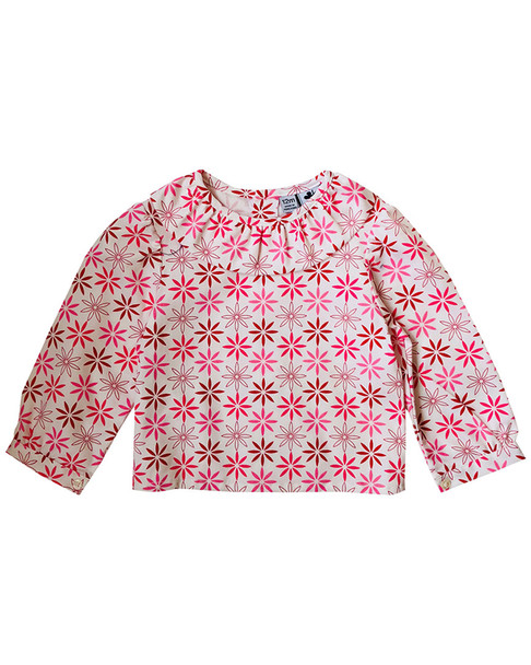 Busy Bees Eloise Pink & Red Blouse~1511952052