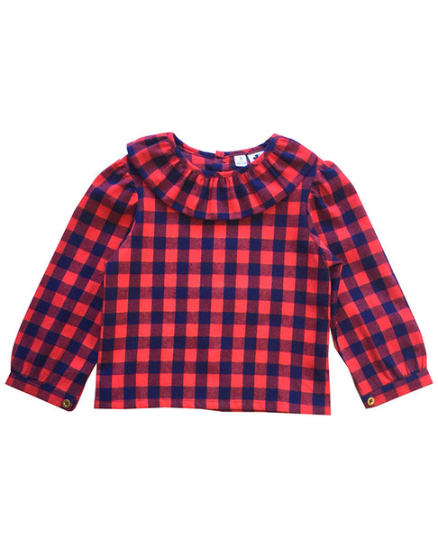 Busy Bees Eloise Red & Navy Blouse~1511952053