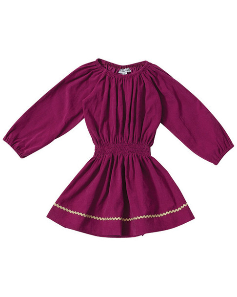 Busy Bees Genevieve Magenta Shift Dress~1511952058