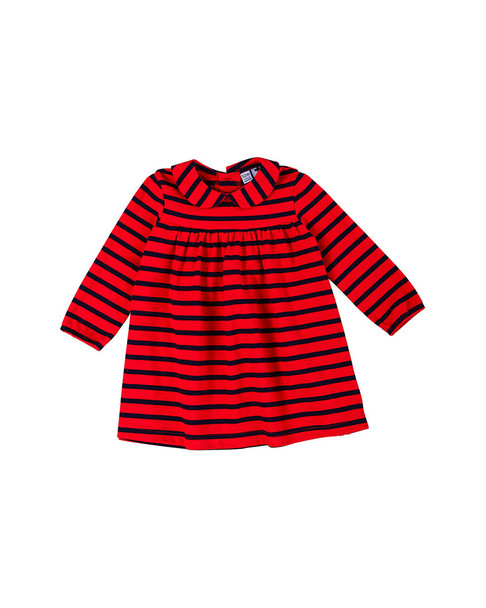 Busy Bees Ginny Navy & Red Shift Dress~1511952061