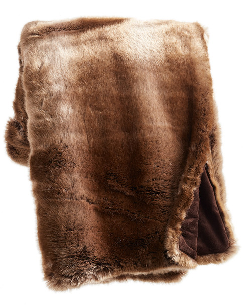 Donna Salyers'' Fabulous-Furs Timber Wolf Couture Throw~3030782213