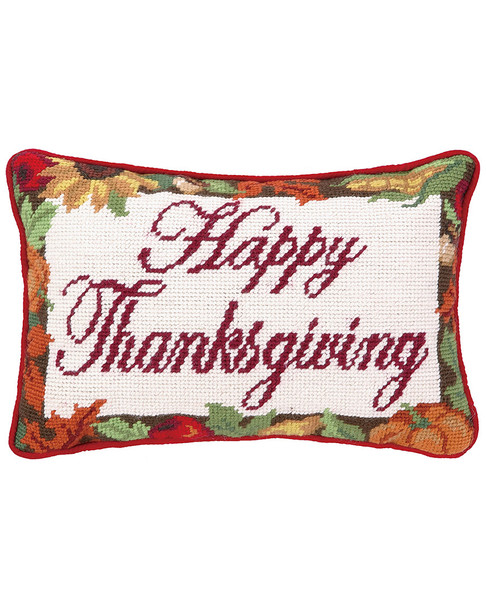 Peking Handicraft Happy Thanksgiving Np Pillow~3040376912