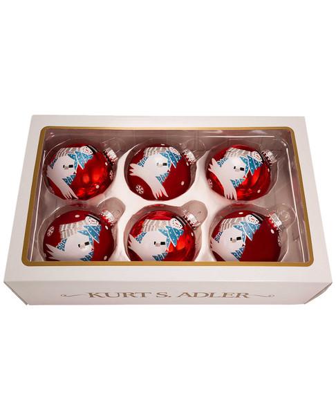 Set of 6 Snowman Glass Ornaments~3050713425