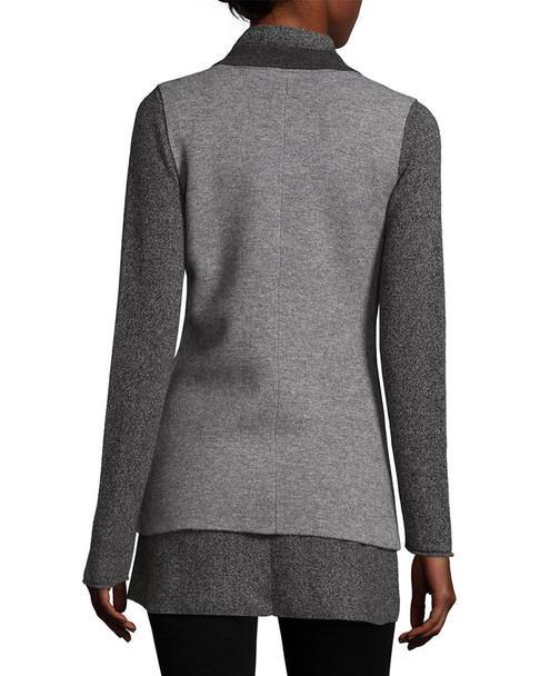Raffi Cashmere Contrast Notch Lapel Wool Vest~1411875075