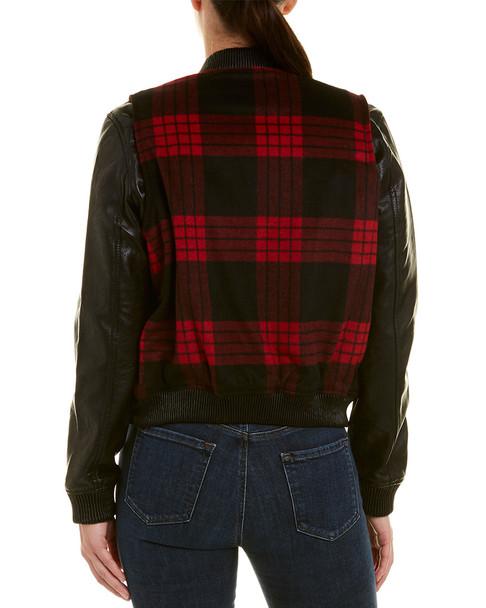 Blank NYC Buffalo Plaid Bomber Jacket~1411952429