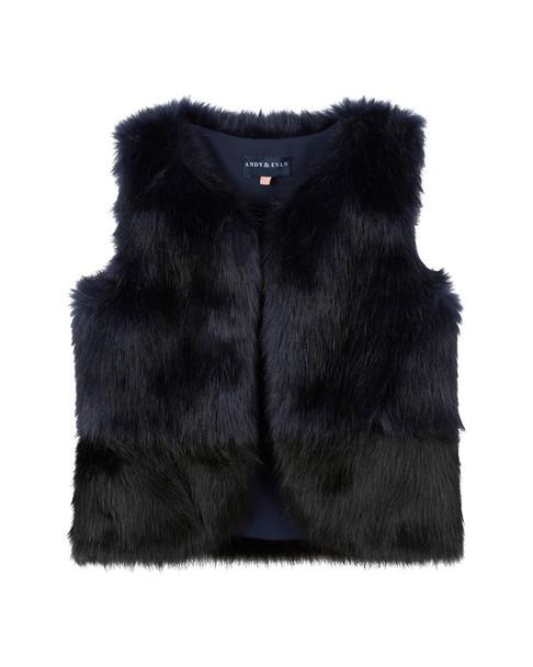 Andy & Evan Open-Front Faux Fur Vest~1511812880
