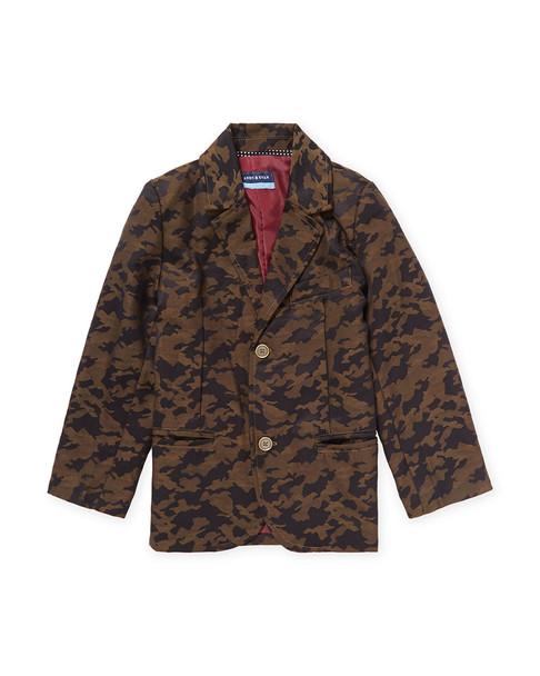 Andy & Evan for Little Gentlemen Camouflage Woven Blazer~1511817748